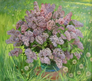« Lilac and dandelions » ,60x70 cm, 2007 Картина художника Дубровского Алесандра /Painting by Alexandr Dubrovskyy