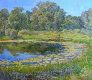 « The river Vorskla », 60х70 cm, 2009 Картина художника Дубровского Алесандра /Painting by Alexandr Dubrovskyy