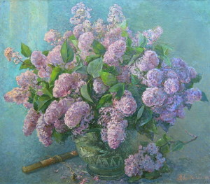 « Bunch of Lilac », 70x80 cm, 2009 Картина художника Дубровского Алесандра /Painting by Alexandr Dubrovskyy