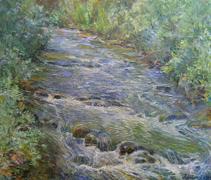 « The mountain river », 60x70cm, 2010 Картина художника Дубровского Алесандра /Painting by Alexandr Dubrovskyy