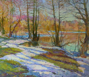 « The first snow », 60х70 cm, 2010 Картина художника Дубровского Алесандра /Painting by Alexandr Dubrovskyy